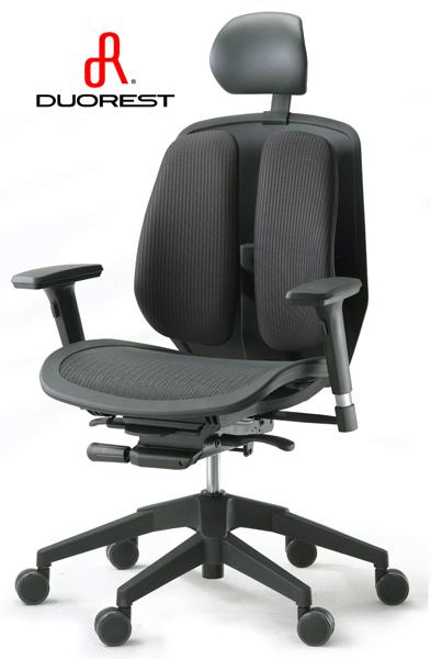 DUOREST オフィスチェア・デュオレスト α80H(ブラック)|オフィスチェアー パソコンチェア ロッキングチェア チェア チェアー デスクチェア オフィス PCチェア 事務椅子 アームレスト ワークチェア OAチェア