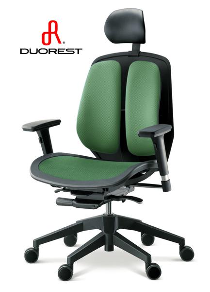 DUOREST オフィスチェア・デュオレスト α80H(グリーン) オフィスチェアー パソコンチェア ロッキングチェア チェア チェアー デスクチェア オフィス PCチェア 事務椅子 アームレスト ワークチェア OAチェア