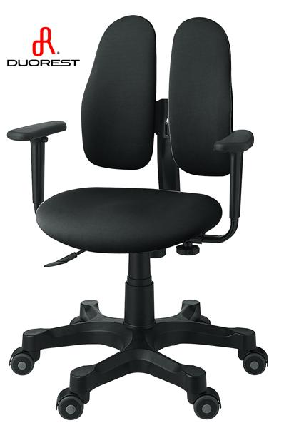 DUOREST オフィスチェア・デュオレスト DR-290(ブラック)|オフィスチェアー パソコンチェア ロッキングチェア チェア チェアー デスクチェア オフィス PCチェア 事務椅子 アームレスト ワークチェア OAチェア