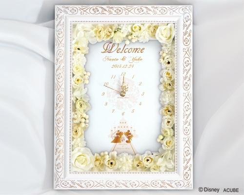 【Disney】ディズニー Prim 結婚式 ウェルカムボード フラワータイプ(時計付き)