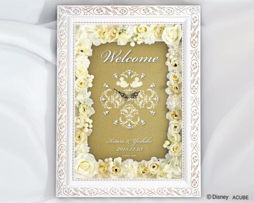 【Disney】ディズニー Wise 結婚式 ウェルカムボード フラワータイプ(時計付き)