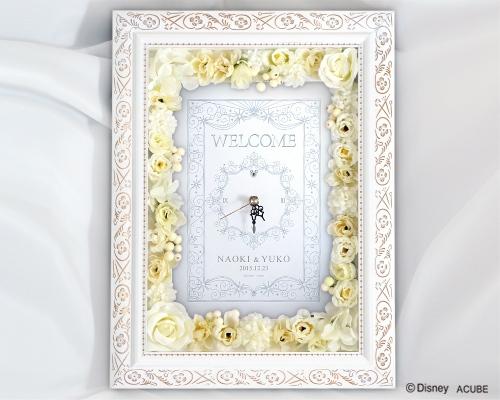 【Disney】ディズニー Desil 結婚式 ウェルカムボード フラワータイプ(時計付き)