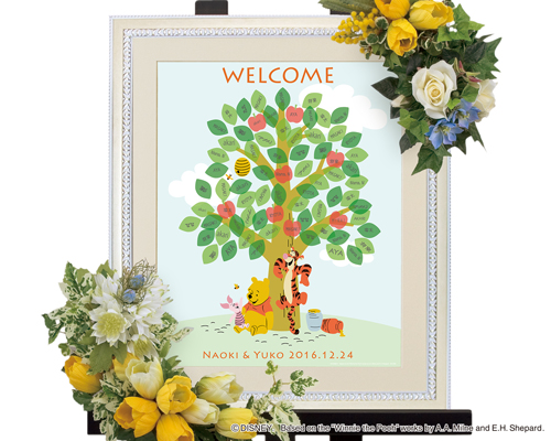 【Disney】ディズニー くまのプーさん プー 結婚式 ウェルカムボード ウェディングツリー 祝福の木 (ツリー)