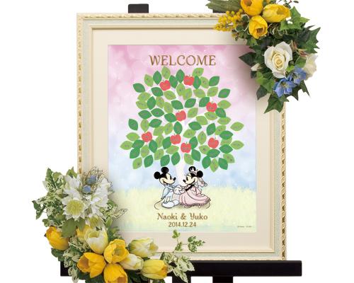 【Disney】ディズニー ミッキー&ミニー 結婚式 ウェルカムボード ウェディングツリー 祝福の木 (ツリー)