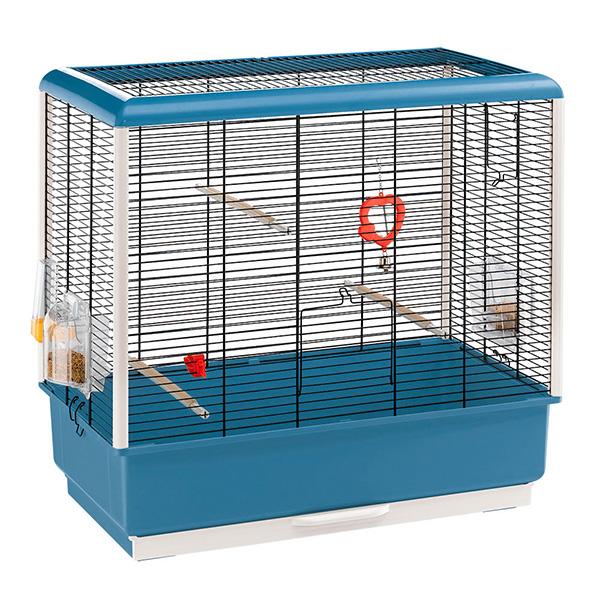 イタリアferplast社製 鳥かご ピアノ 4 Piano 4 鳥籠 ゲージ フルセット カナリア セキセイインコ 小型鳥用