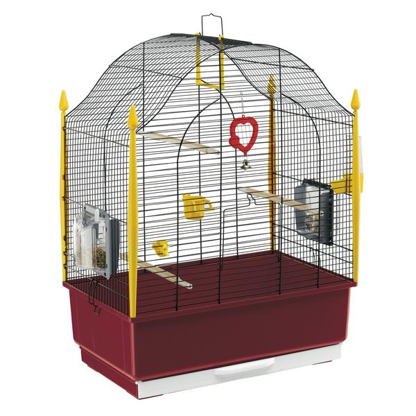 【通販限定・卸売対象外】イタリアferplast社製 鳥かご ヴィラ ブラック Villa Gold 鳥籠 ゲージ フルセット カナリア セキセイインコ 小型鳥用