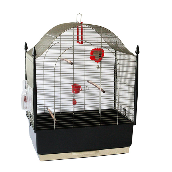 【通販限定・卸売対象外】イタリアferplast社製 鳥かご ヴィラ アンティークブラス Villa AntiqueBrass 鳥籠 ゲージ フルセット カナリア セキセイインコ 小型鳥用