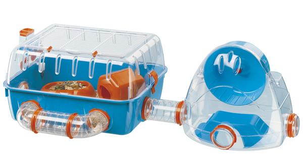 イタリアferplast社製 ハムスター マウス ケージ コンビ 2 Combi 2 ハウス ネズミ フルセット 小動物用 ペット用品