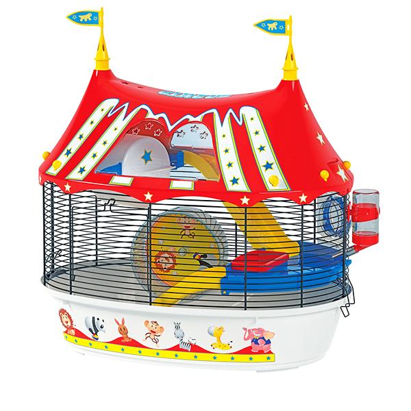 イタリアferplast社製 ハムスター マウス ケージ サーカス ファン Sircus Fun ハウス ネズミ フルセット 小動物用 ペット用品