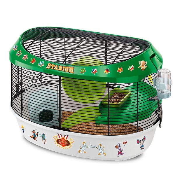 イタリアferplast社製 ハムスター マウス ケージ スタジアム Stadium ハウス ネズミ フルセット 小動物用 ペット用品