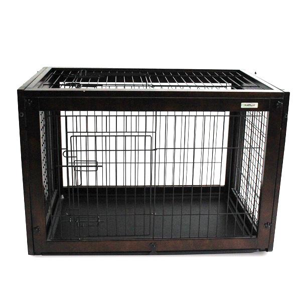 在庫一掃セール 送料無料 SIMPLY シンプリー パレス フリップオーバー 犬 ゲージ 屋根付き 2Way サークル ハウス 木製 ドッグ ペット用 DWM05-M