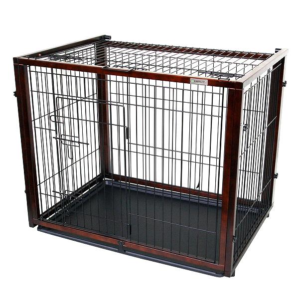 在庫一掃セール 送料無料 SIMPLY シンプリー パレス スライダー 犬 ゲージ 屋根付き サークル ハウス 木製 ドッグ ペット用 DWM04-S