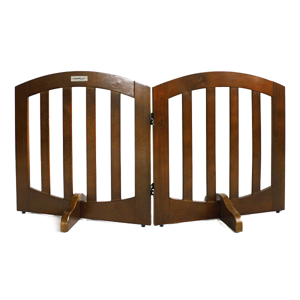 在庫一掃セール 送料無料 SIMPLY シンプリー シールド ラグジュアリー 木製ゲート ペットゲート バリアゲート 2パネル 犬 ドッグ ペット用 FWW-2Panels
