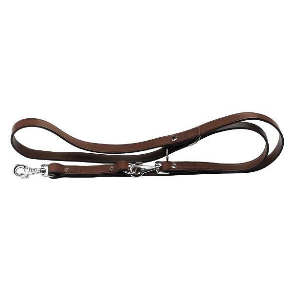 イタリアferplast社製 本格ブルレザー使用 革 犬具 VIP GA22/200 ロングリード2頭引き 犬 散歩用品