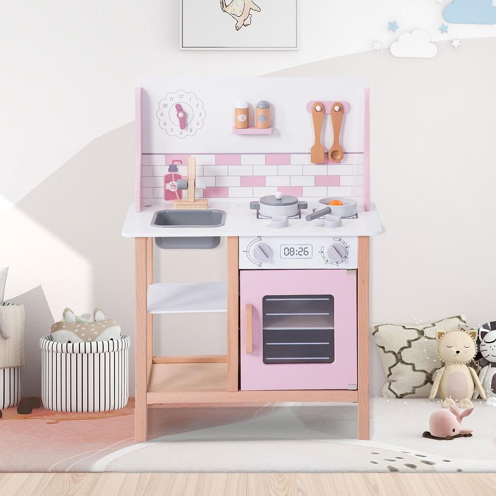 おままごとキッチン 木製 誕生日 ままごと セット 台所 調理器具付 売れ筋 食材 知育玩具 送料無料 クッキング 室内遊び お歳暮 かわいい 調理器具付き 子ども用 おもちゃキッチン おままごとセット キッチン