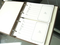 Wedding guest book guest book Bijou cheki card (60 cards)