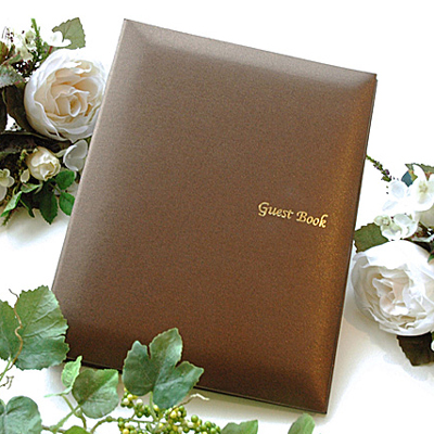 ' Exhibition meeting & autumn wedding! Special price (restocking NG) ' 'disabled' guest book Mocha seat type Ribbon nothingness, wedding guest book guest book