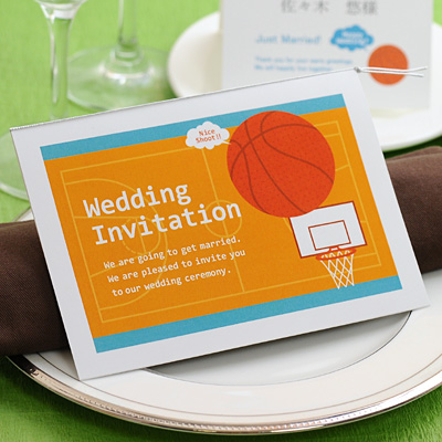 Letter Of Invitation Finished Product Seal Imprinting Basketball Wedding Ceremony Paper Item