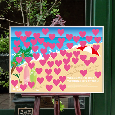 Guest Parion 寄書ki Welcome Board Surf 60 Pax Wedding Party