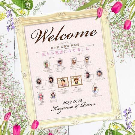 【完成品】家系図ウェルカムボード/ファミリーツリー結婚式/ウェルカムボード