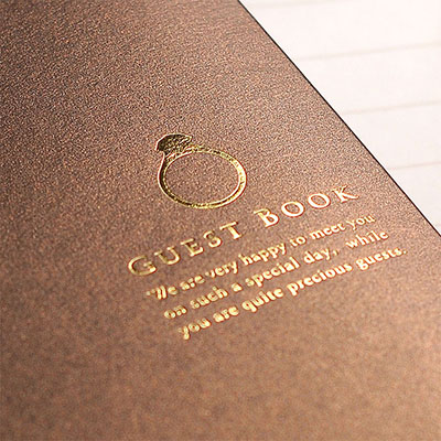 Guest book wedding chocolate • rings standard card type / guestbook