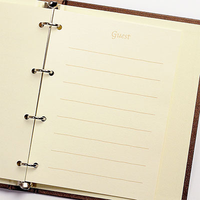"10 / 26 Wedding in time yet! (Daily shipping / weekday ) ' autumn wedding / review writing bargain ""Chocolat-ring seat type, wedding guest book, for guestbook"