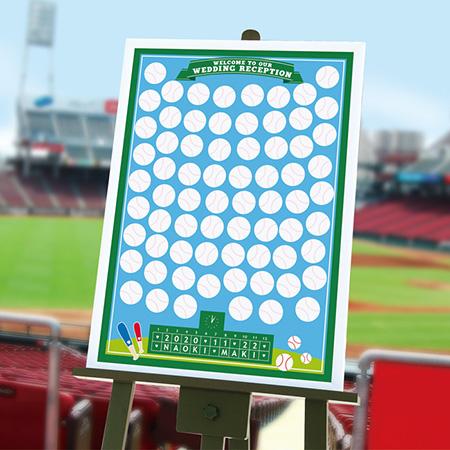 【プロ野球開幕】寄せ書きメッセージボード【A2サイズ(70名様用)】「ベースボール(野球)」/結婚式/パーティー/イベント/スポーツ