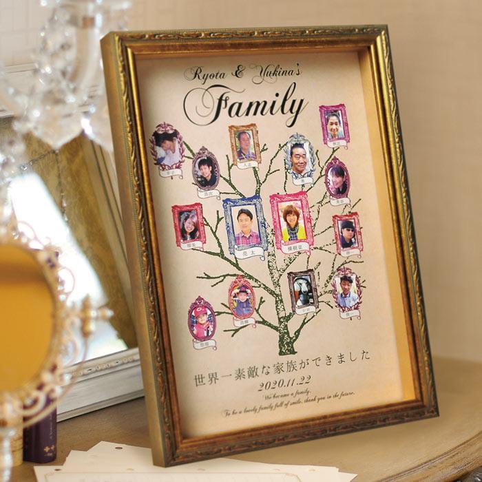 「家族の絆が深まる贈り物」ファミリーツリー/結婚式両親へのプレゼント