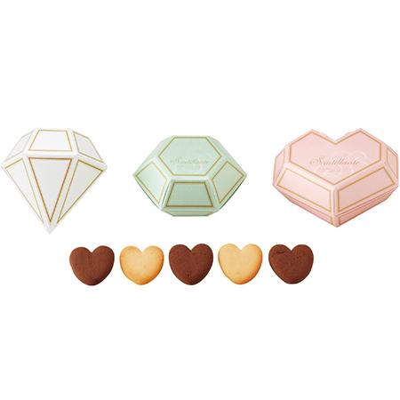 【プチギフト 50個入(50名様分)】ジュエルボックス(ハートクッキー)