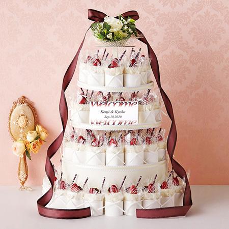 ガレットオランジュ ケーキタオル 60個セット /結婚式プチギフト