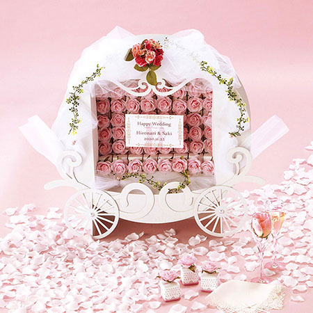 シンデレラストーリー ピンク 56個セット /結婚式プチギフト ※メーカー直送品のため代引・同梱不可※