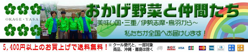 伊勢志摩おかげ野菜と仲間達:伊勢志摩のおかげ野菜を中心に、山の幸、海の幸をお届けします。