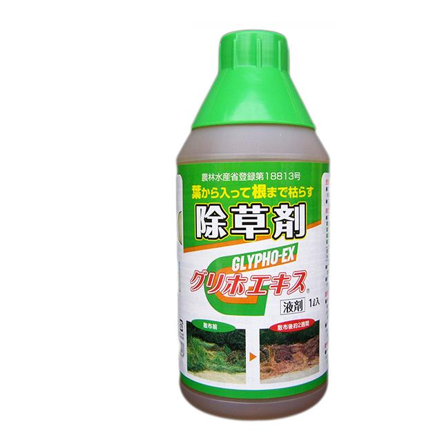除草剤 グリホエキス1L×12本セット 旧ラウンドアップと同成分【葉から入って根まで枯れるグリホサート系除草剤】