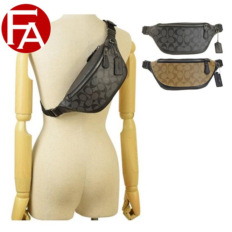 コーチ COACH ヒップバッグ ボディバッグ メンズ シグネチャー アウトレット f84711   バッグ バック かばん 鞄 肩掛け 斜め掛け 斜めがけ おしゃれ オシャレ ブランド