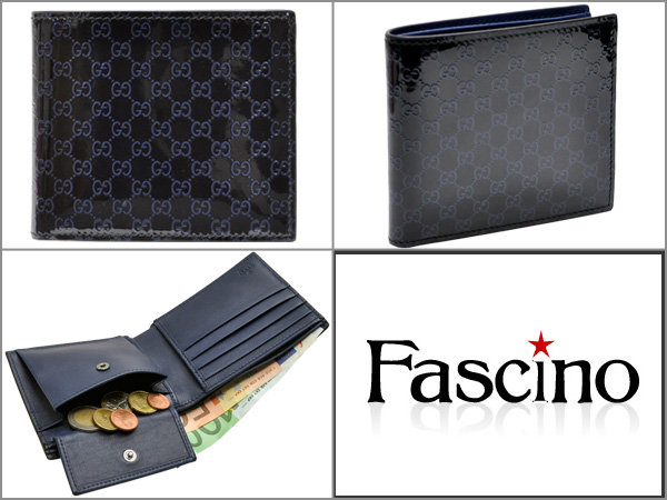 8cd181a6ecfc Brand name. Gucci wallet GUCCI wallet << Gucci wallet >> men's AVEL folio wallet  black X blue micro Gucci sima patent leather 365467ar91r8469