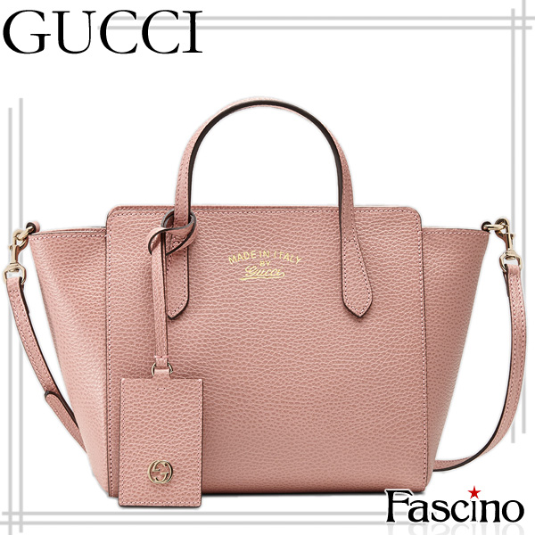 1dd91de4959c [careful selection] Gucci bag GUCCI BAG swing mini-2WAY tote bag software  pink leather 368827cao0g5806