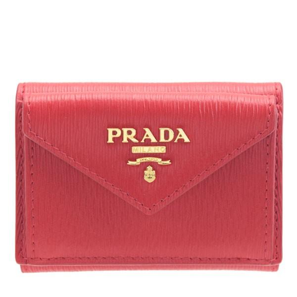 プラダ PRADA ショップ袋付き 三つ折り財布 アウトレット 1mh021vitmov-lacc | ウォレット サイフ さいふ 財布 コンパクト レディース かわいい 可愛い 小銭入れ カード入れ 使いやすい おしゃれ オシャレ ブランド