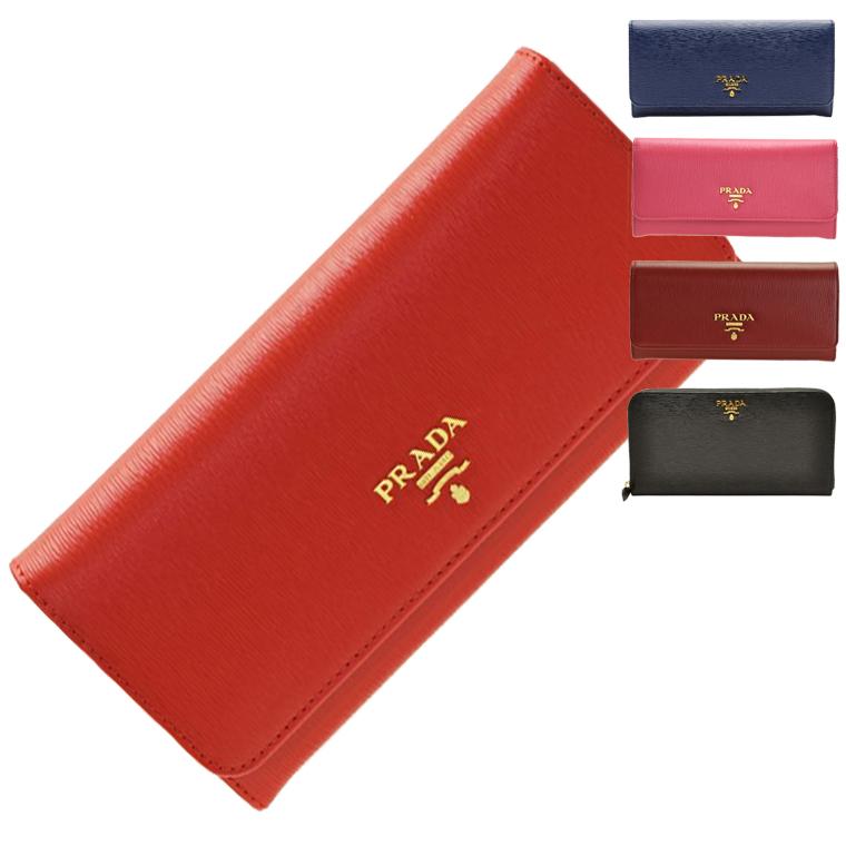プラダ 財布 ブランド財布 PRADA ショップ袋付き 財布 ブランド財布 パスケース付き 二つ折り長財布 型押しレザー 1mh132 1ml506 | 二つ折り 小銭入れ ウォレット サイフ 財布 カード入れ 多い レディース 可愛い オシャレ