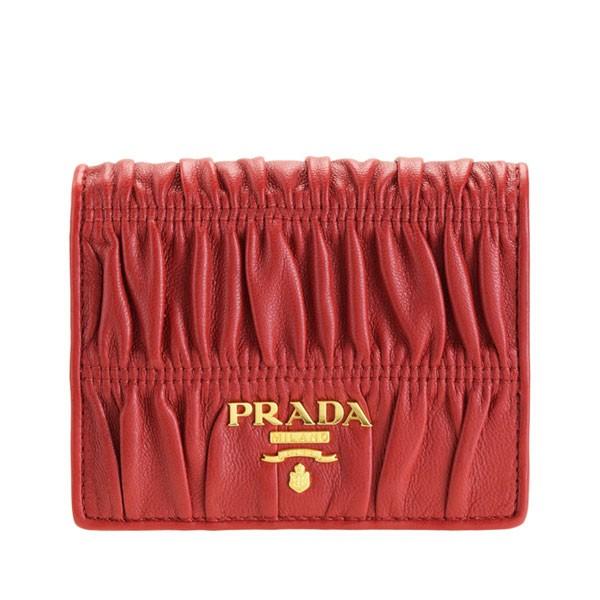 プラダ PRADA ショップ袋付き 二つ折り財布 ナッパ ゴーフル NAPPA GAUFRE アウトレット 1mv204naga-fuoc-zz | ウォレット サイフ さいふ 財布 ブランド カード入れ 多い 小銭入れ オシャレ レザー レディース かわいい 可愛い