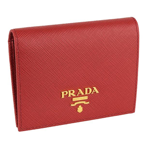 引き出物 PRADA プラダ 年末年始大決算 財布 新品 二つ折り財布 アウトレット 1mv204same-fuoc-zz レディース