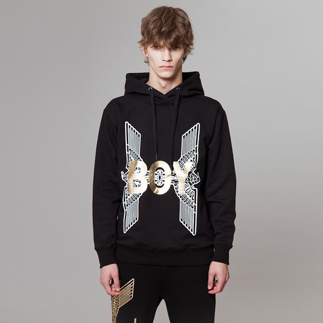 a7d3a4ec6 ... Boy Eagle Printed Hoodie - BLACK BG3HD026 men casual male men fashion  ...