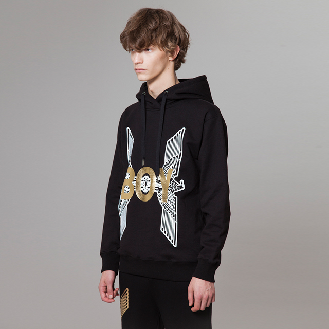 213c5b0c3 fashionbeauty: Boy Eagle Printed Hoodie - BLACK BG3HD026 men casual ...