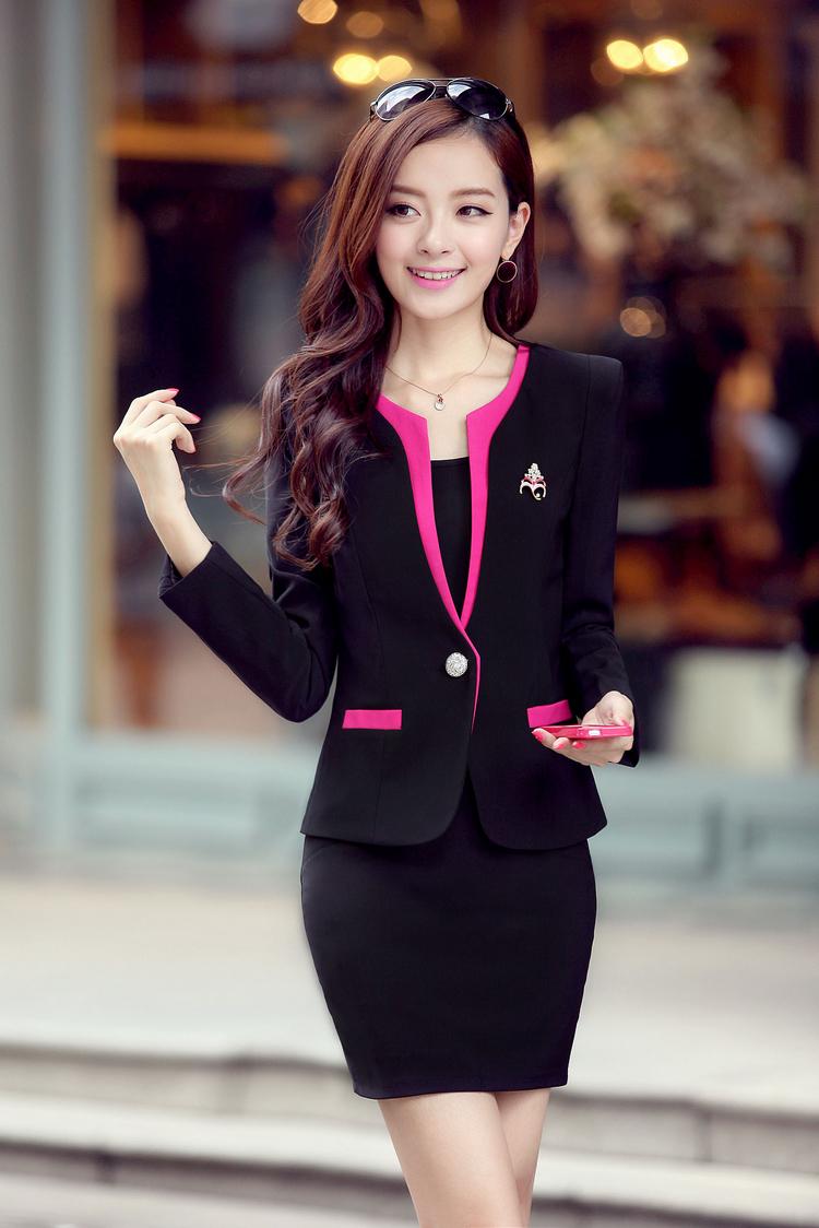 Fashionhime Reddies Fashion Skirt Suit Long Sleeves Classy Elegance
