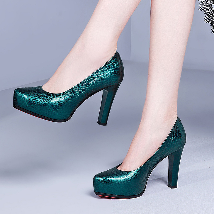 c36773464b61ad ♪Adult elegant 着痩大 excellent at celebrity-like fashion genuine leather pumps  heel stability comes and is and does not put it on with the wedding ...