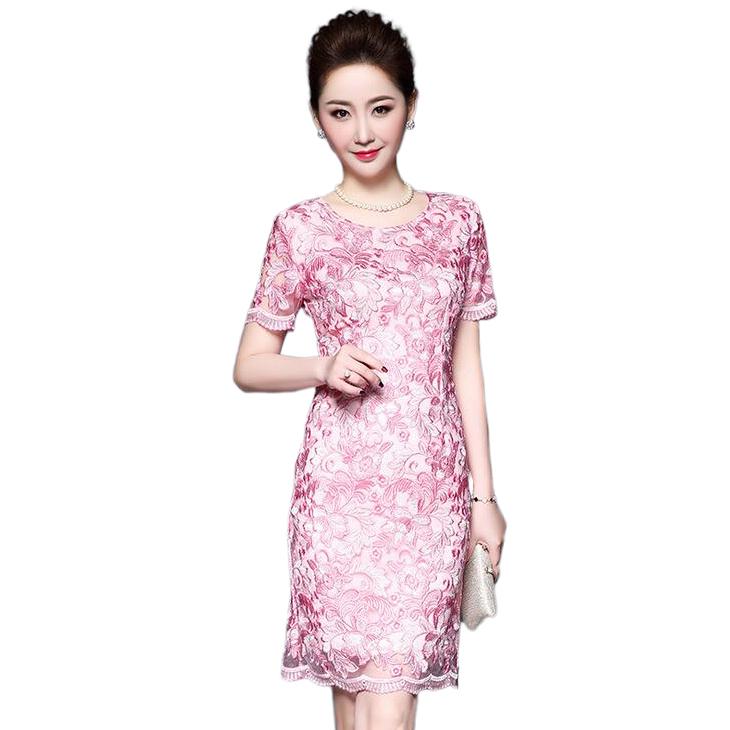 9a0d32ddf0453 セレブファッション 夏新作 高級刺繍 オンライン タイトワンピース 大人 ...