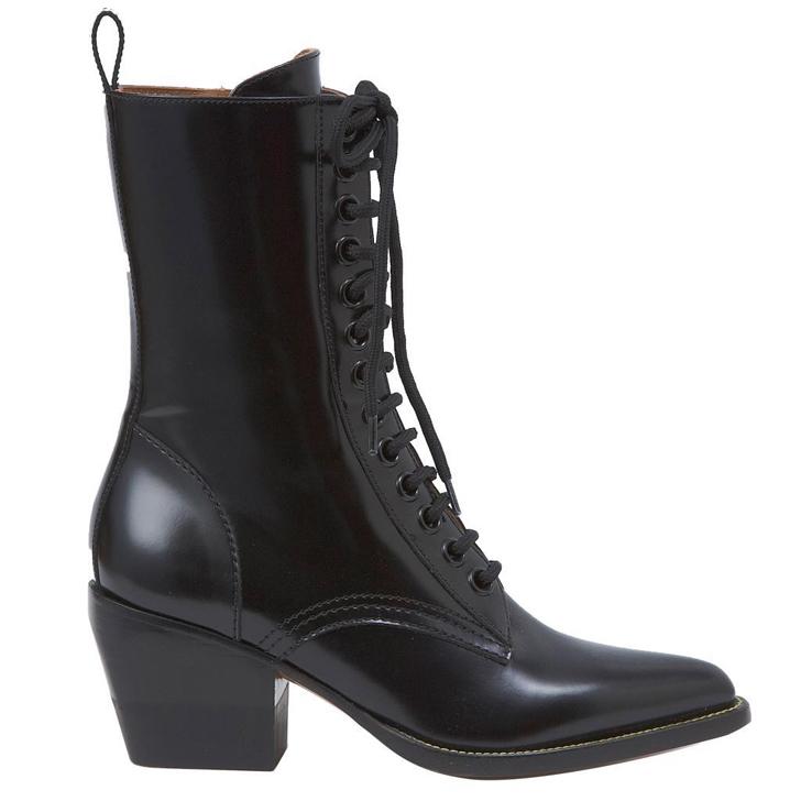 クロエ Chloe ブーツ レザー ブラック レディース 靴 001 価格 人気海外一番 ロング ミドル 6306 18AW ショート