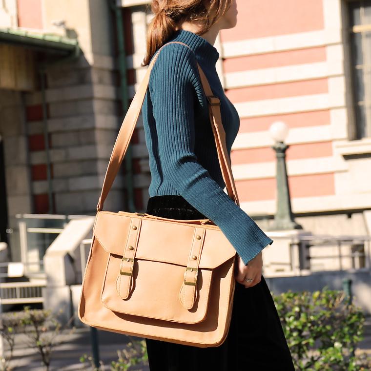 Leather Fake Handbag Shoulder Bag Rucksack Square A4 Business Briefcase Commuting Attending School Schoolbag