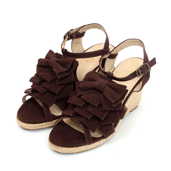 Hurt the front frill Ribbon Sandals wedge sole sandal open toe summer Sandals ethnic wedge % off women's Gladiator Sandals pumps sale half price sale aw 2013 2013 fall winter.