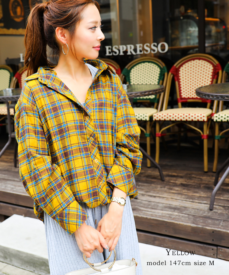 6c754ff5d FashionLetter  The flannel shirt check shirt which has a cute 3way ...