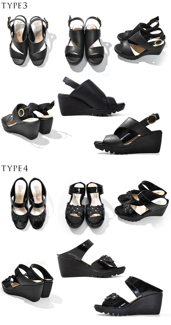 舒适的鞋第一次接触第一次接触舒适性鞋类高跟鞋妇女 2015年春夏新舒适凉鞋休闲在日本楔鞋底 (S M L LL) [NN] 伤害鞋垫搪瓷橡胶表带